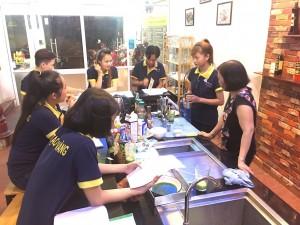 Buổi học pha chế tại Bếp Vàng