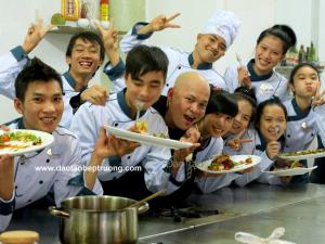 Hình ảnh học viên Bếp Vàng sau buổi học